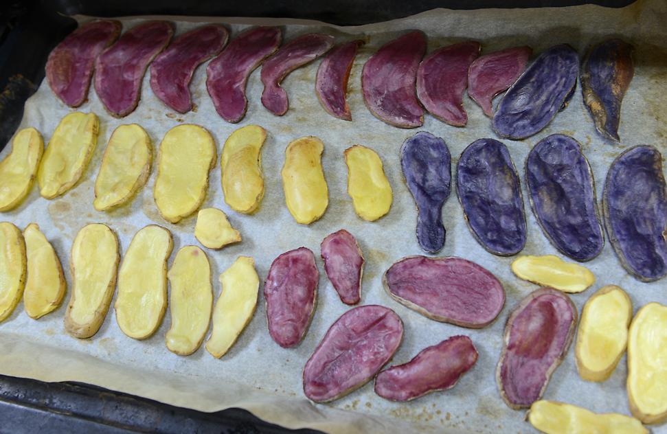 Ditta, Violetta und Rote Emma - fertig gebacken!
