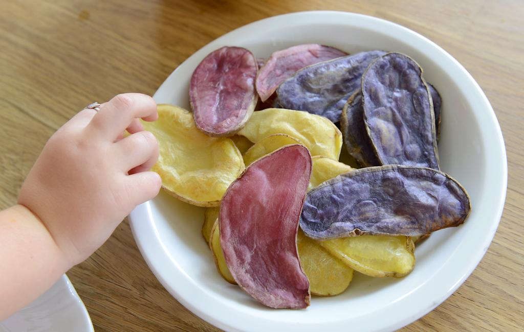 Bunt, bunt, bunt sind alle meine Erdäpfel (Kartoffel): Erdäpfel-Chips